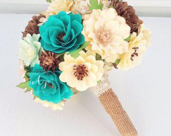 Ramo de boda Bouquet  flores de papel  papel  novia o Dama
