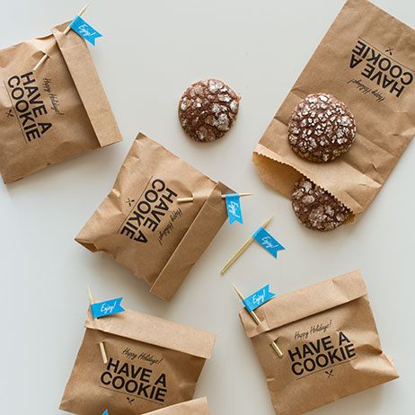 Let's make some cookie gifts! - cute packaging with brown paper bags