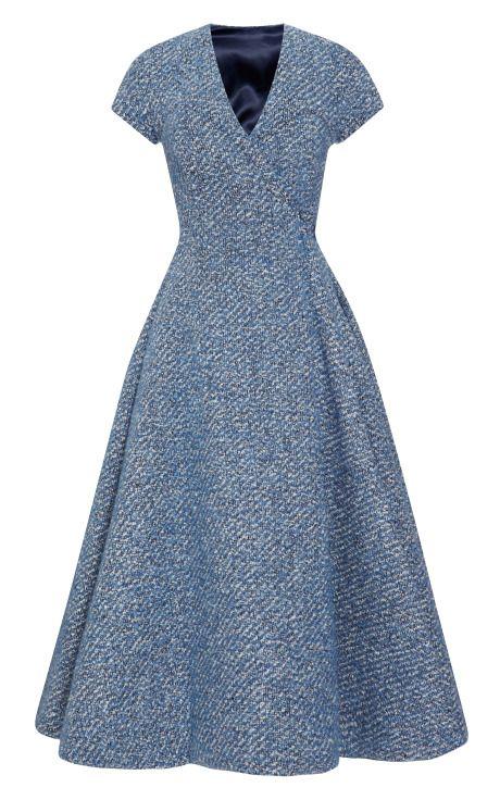 A Dress with Back-Slit by Emilia Wickstead - Moda Operandi