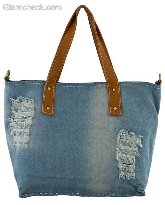 Denim handbags-tote bag