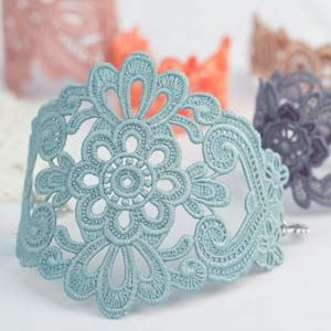 These delicate lace creations make perfect accents for any ensemble. From blue jeans to wedding dresses, there's nothing that won't look great with a dash of embroidery elegance. Freestanding Lace Bracelets and Cuffs by OESD.