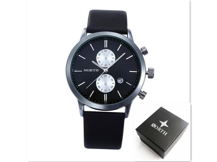 Mens Watches Top Brand Luxury Quartz Watch Casual Leather