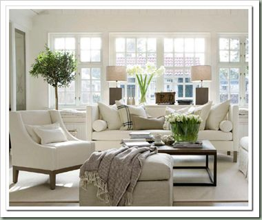coziness: Lights, White Living Rooms, Idea, Window, Clean, Livingroom, White Rooms, House, White Furniture