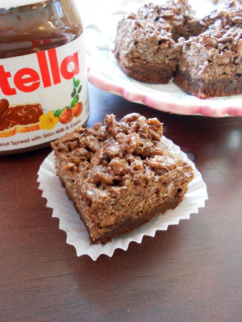 These turned out great- couldn't even wait until it cooled fully. Very easy to make. Culinary Couture: Nutella Crack Brownies
