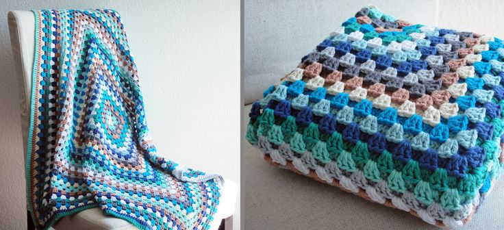 Tutorial: Bunte Granny Square Decke - haus of crochet