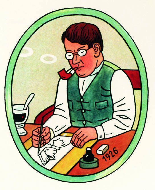 Josef Lada  - Czech paiter, autroportret