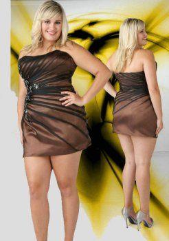 bustier deux mini tonique perles brunes sexy robe de cocktail grande taille