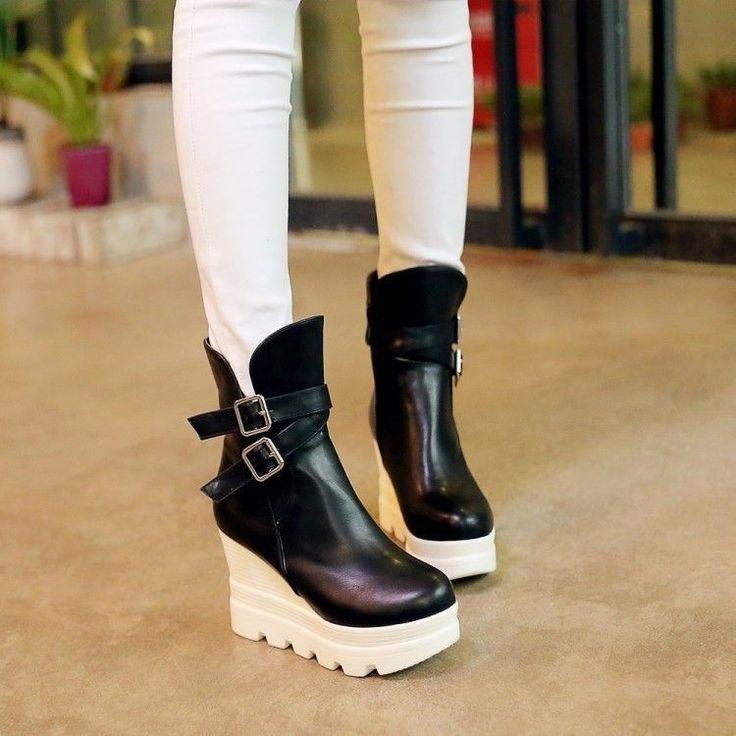 platform wedge boots