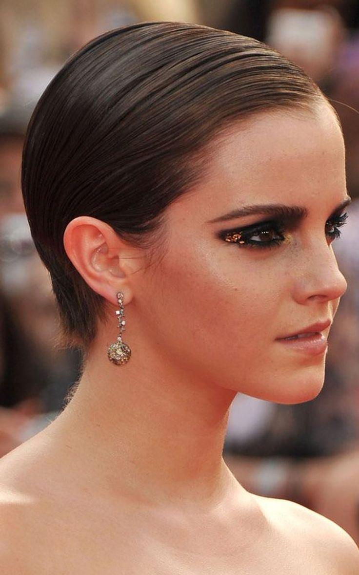 Gold leaf eye makeup, Emma Watson