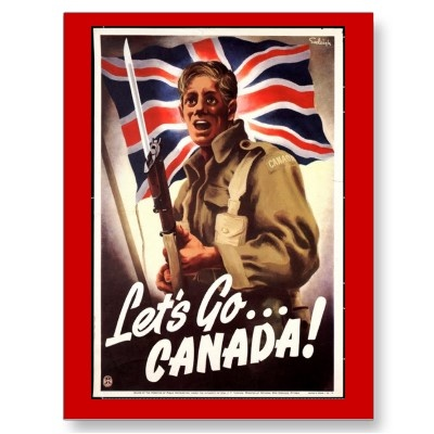 Lets Go Canada: Canada War Poster, Wwii Poster, Propaganda Poster, Poster Frame-Black, Let Go, Canadian Poster, War Ii, Recruitment Poster, Enlist Poster