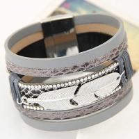 Feather Shape Decorated Multilayer Design Gray