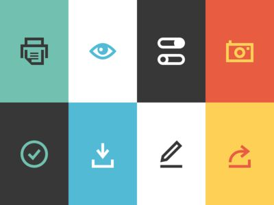 Icons from Mailchimp new newsletter