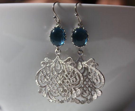 Anthropologie inspired dark denim blue color by portobellobelle, $34.00