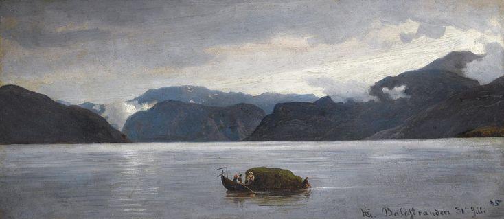 Hans Gude - Fra Balestrand (1845). jpg (2000×869)