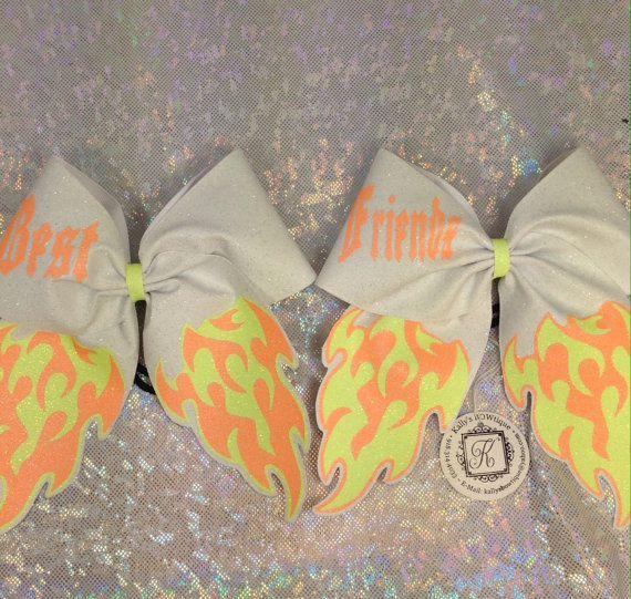 Best Friends Full Glitter Cheer BOW set in NEON by KallysBOWtique, $25.00
