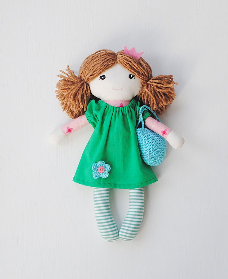 "Rag doll, cloth doll  ""Kate"", soft doll, doll for girls, fairy doll, princess doll by pompondolls on Etsy"