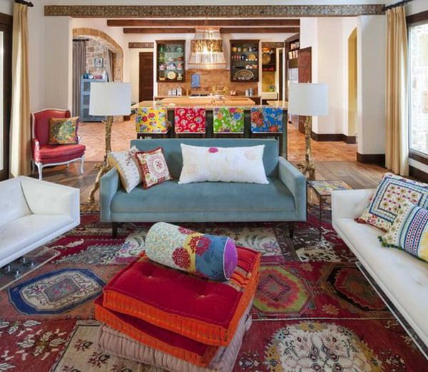Nice Rugs for Mexican Living Room Decorating Style
