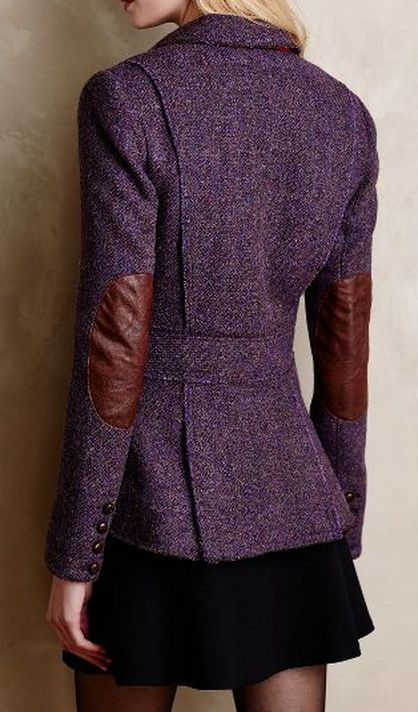 purple tweed blazer  http://rstyle.me/n/v6kn2pdpe