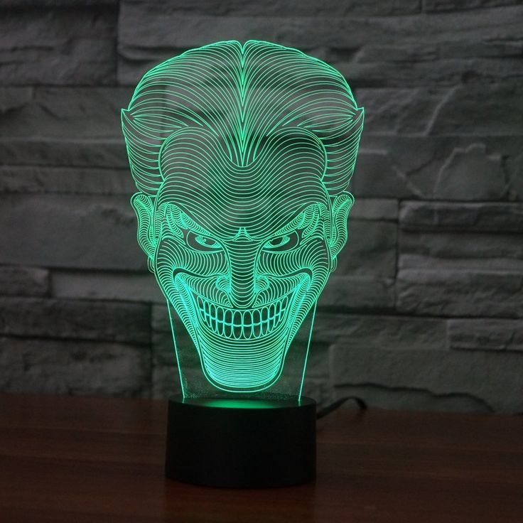 Joker 3D lamp. Visit our website to find out more.