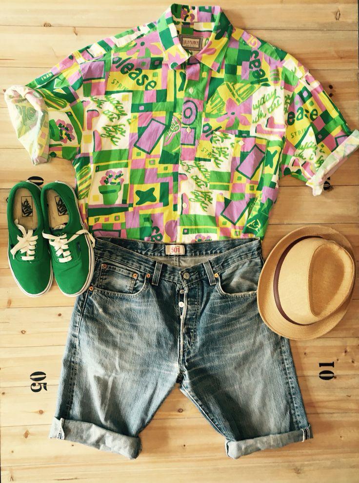 Vintage Oufit for man! Vans, levi's 501 & hawaian shirt!