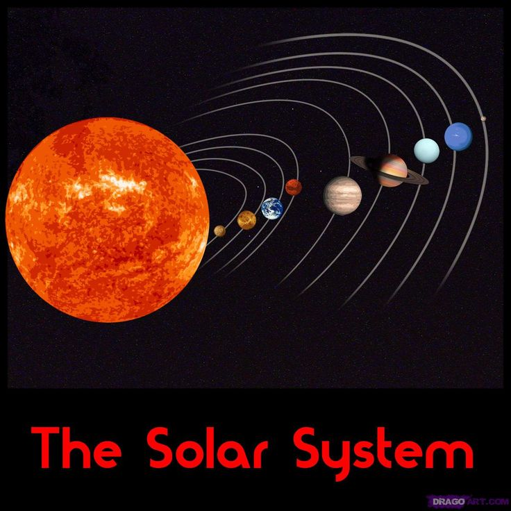 picturs of solorsystom | Start this lesson on how to draw the solar system by drawing a long ...