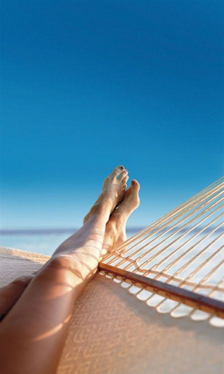 Feet up in Arniston Bay.