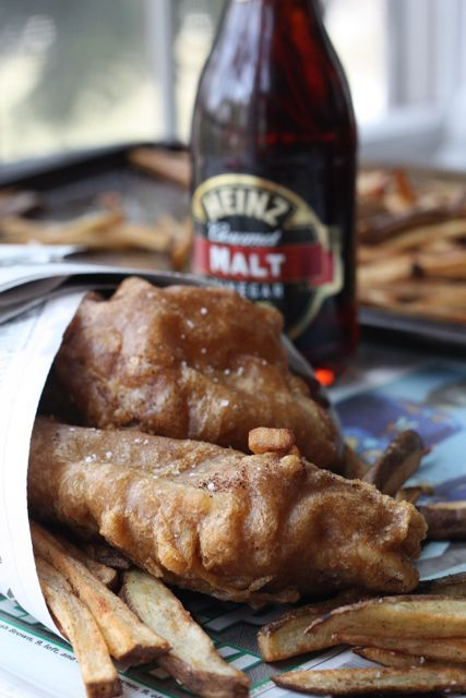 Guinness Beer Battered Fish and Chips.  The ONLY reason I would ever buy a deep fryer - I really want to try making this.