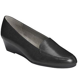 Aerosoles Leather Wedge Loafers - Lovely