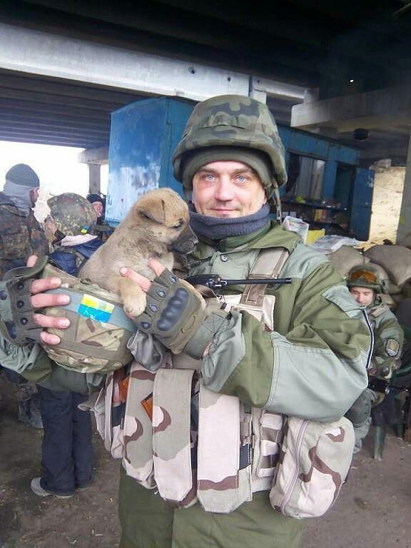 """А цей песик- є оберегом полку """"Дніпро -1"""""""