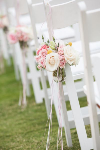 style me pretty - real wedding - mexico - los cabos wedding - cabo del sol - ceremony decor - aisle decor - chair decor