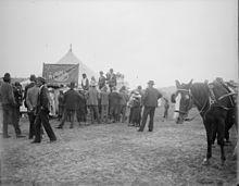 Tent boxing at Gundagai, New South Wales, Australia, 1927.