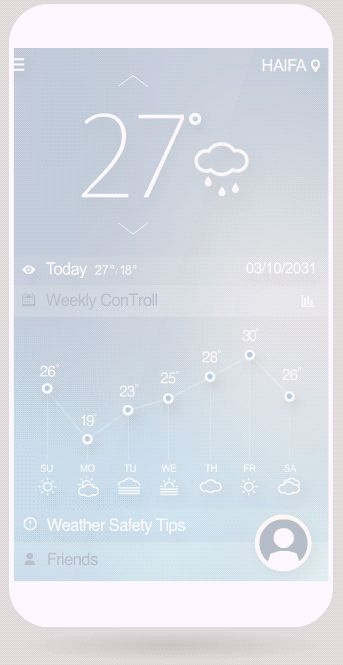 Weather ConTroll by Ilya Tsuprun, via Behance
