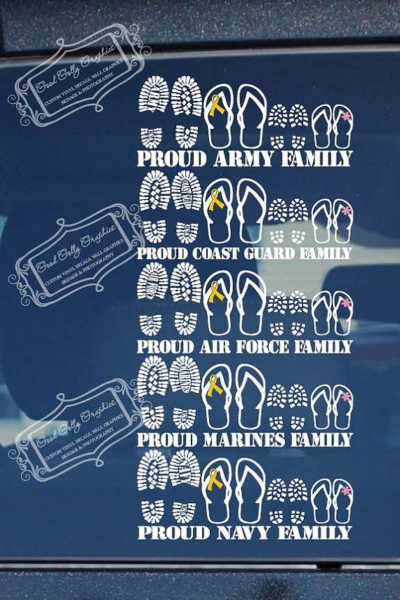 Military decal stick family Proud military by GoodGollyGraphics, $12.00