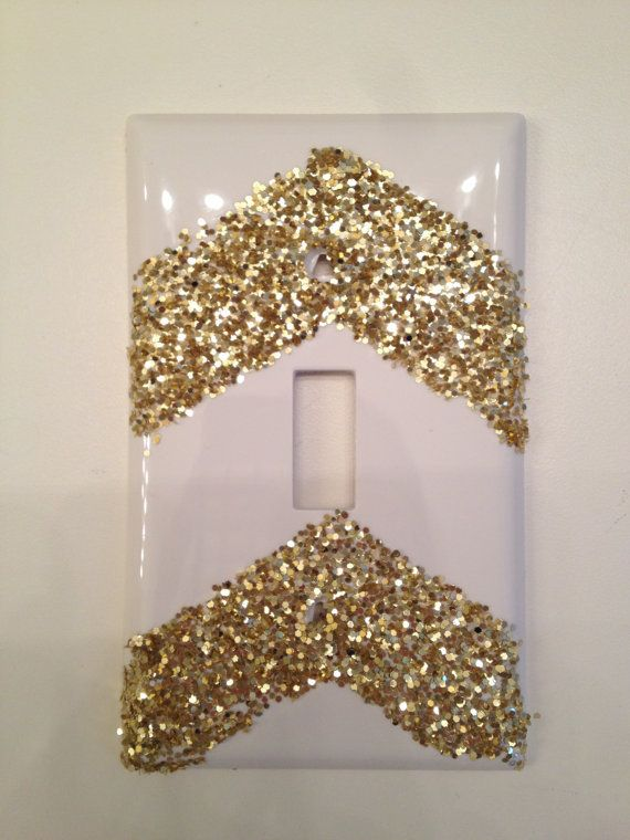 DIY magical craft: Chevron Glitter Light Switch Cover. Looks simple - I can make this! Loooooove sparkles. Just can't get enough.