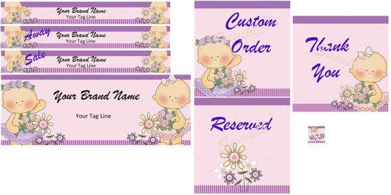 Digital - Baby - Etsy Banner - Logo Set - Tutu - Graphic - Facebook Cover - Clip Art