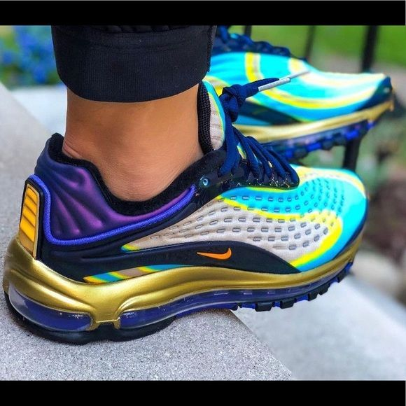 Nike Air Max Deluxe Midnight Navy Laser Orange Nike Air Max Sneakers Fashion Nike