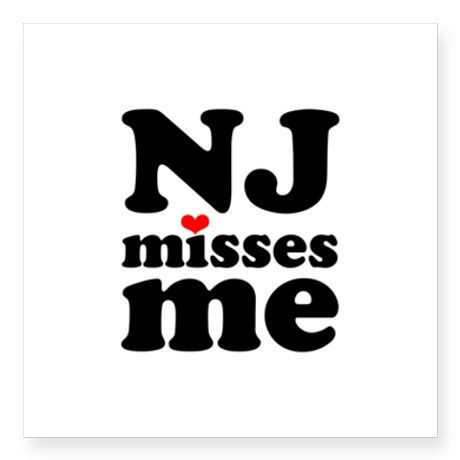New Jersey misses me Sticker. I need this!