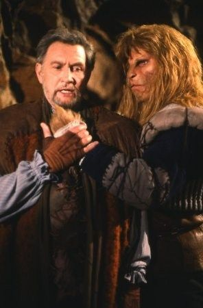 Roy Dotrice and Ron Perlman