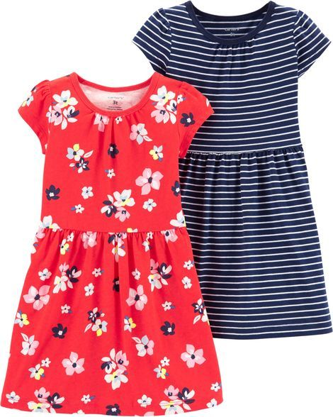 1c85236c Baby Girl 2-Pack Jersey Dress Set from Carters.com. Shop clothing &  accessories from a trusted name in kids, toddlers, and baby clothes.