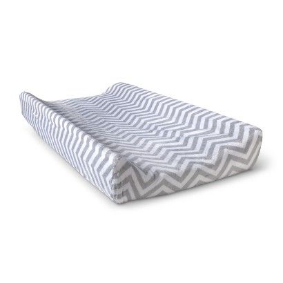 Circo® Plush Popcorn Changing Pad Cover in Grey Chevron - Target $12.99