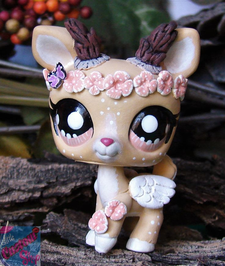 Littlest Pet Shop Forest Spirit Vera ooak custom figure LPS Angel guardian chibi #Hasbro