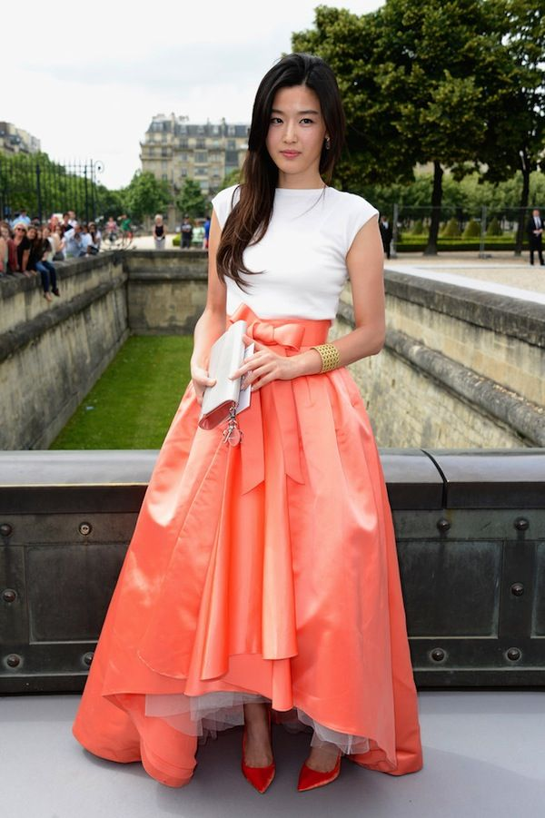Jun Ji-hyun christian dior pre-fall 2013 Gianna+Jun+PFW+Front+Row+Christian+Dior+bvrghy6yC-7x