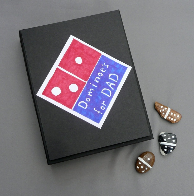 that artist woman: Dominoes For Dad: Father's Day ProjectFun Domino, Artists Woman, Team Win, Boxes Ideas, Pizza Boxes, Gift Cards, Fathers Day, Domino Tile, Recognition Ideas