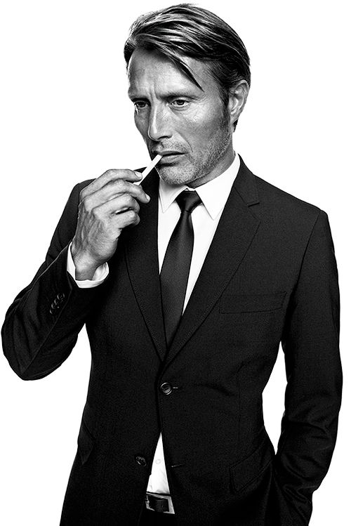 Mads Mikkelsen.  He makes a great Hannibal Lecter.  He also does sexy well.