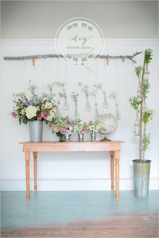 These gorgeous diy decor ideas would be great as a #wedding ceremony backdrop! From http://weddingchicks.com/2012/10/22/diy-decor-ideas/  Photo Credit: http://theomilophotography.com/  Florals by http://kimfisherdesigns.com/