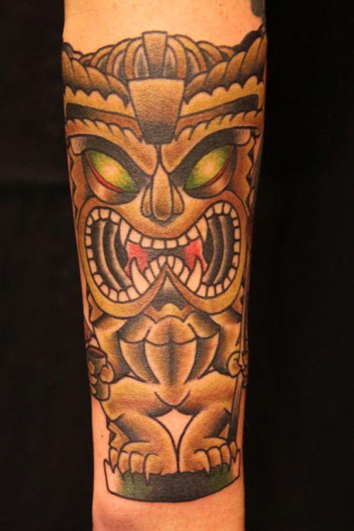 Polynesian Tiki Tattoo Designs: Tiki Tattoo By Jereamie Hamilton
