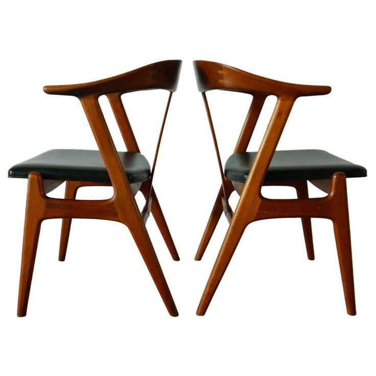 Torbjørn Afdal; Teak Chairs for Bruksbo, 1960s.
