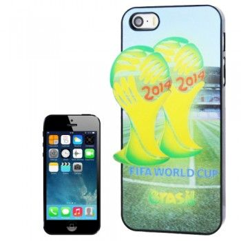 3D Effect Brazil World Cup Pattern Case for iPhone 5 & 5S