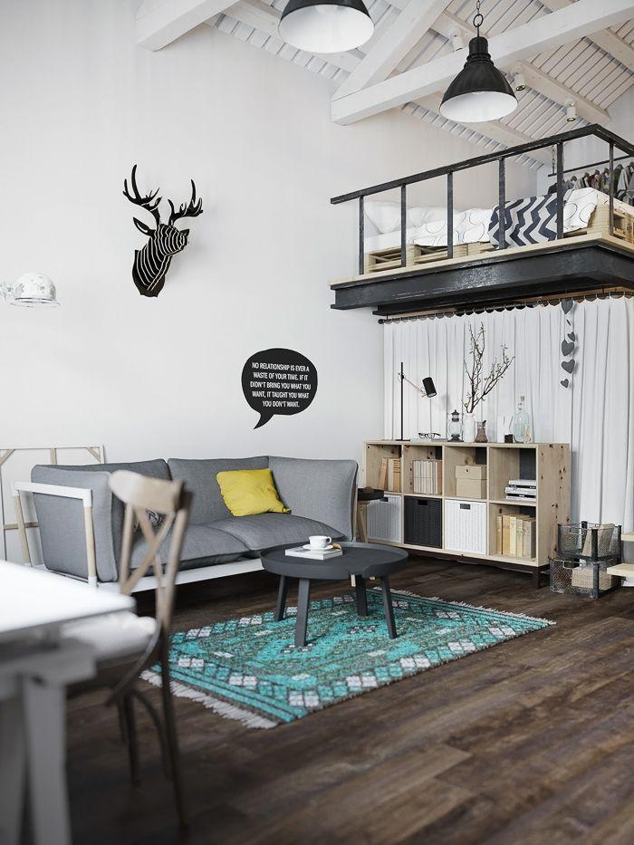 #DECO: Loft de estilo escandinavo con un toque de color   With Or Without Shoes - Blog Moda Valencia Tendencias