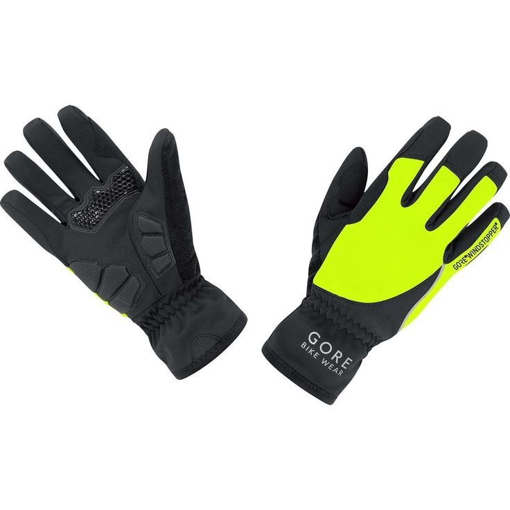 GORE BIKE WEAR Women's Power Windstopper Soft Shell Lady Gloves, Black/Neon Yellow, Medium. Windproof, thermo lined, full-fingered gloves - warmth and improved finger response for the ambitious cyclist in winter. Protects against the elements; WINDSTOPPER Soft Shell technology- windproof, water repellent, and with great breathability. Foam padding on palm and thumb cushion, sweat pad on thumb, elasticized wrist, silicon print on upper palm for better grip. Safety conscious reflective…